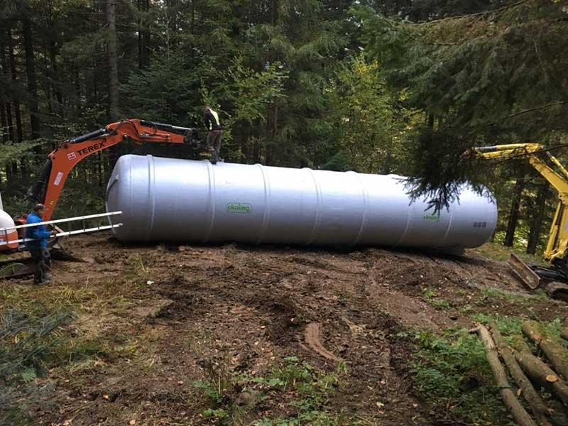 Ekoling Polyester water tank for Lehen, Municipality of Podvelka