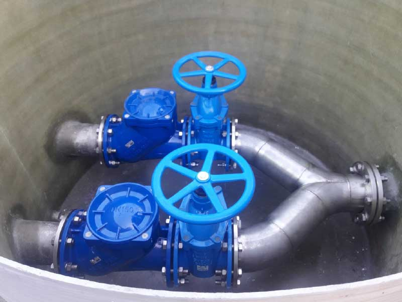 Ekoling polyester pumping station with installation